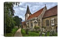 Holy Trinity Church Bosham, Canvas Print