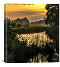 Sunset At The Lakeside, Canvas Print