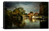 Abingdon Bridge, Canvas Print