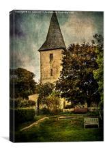 Bosham Church Tower, Canvas Print
