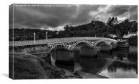 The Old Wye Bridge Chepstow, Canvas Print