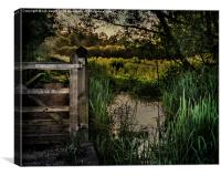 Footpath Gate Streatley-on-Thames, Canvas Print