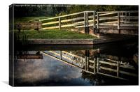 Swing Bridge Reflected, Canvas Print