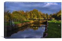 Sheffield Lock Near Theale Berkshire, Canvas Print