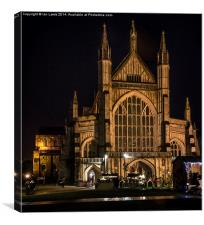 Winchester Cathedral at Christmas , Canvas Print
