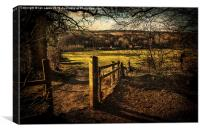 Pang Valley from Sulham Woods, Canvas Print