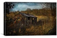 Abandoned Farm Building, Canvas Print