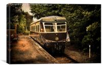 Great Western Diesel Railcar, Canvas Print