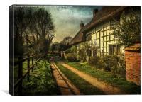 A Lane in Blewbury, Canvas Print