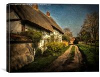 Cottages in Blewbury, Canvas Print