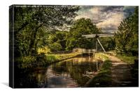 Talybont on Usk Lift Bridge, Canvas Print