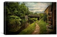 Canalside Cottages at Talybont, Canvas Print