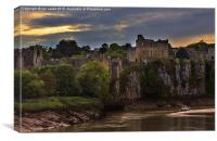Evening At Chepstow , Canvas Print