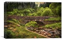 Bridge Over The Caerfanell, Canvas Print
