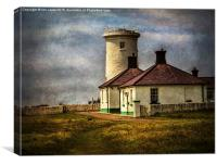 Nash Point Lighthouse Low Tower, Canvas Print