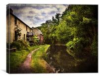 The Towpath At Talybont, Canvas Print