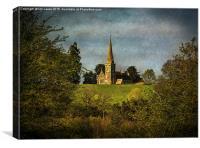 Across The Valley To Midgeham, Canvas Print