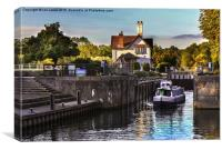Goring on Thames Lock, Canvas Print
