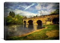 The Bridge At Wallingford, Canvas Print