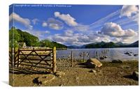 Derwentwater Shoreline, Canvas Print