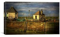 The Harbour At Maryport, Canvas Print