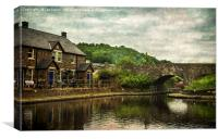 The Canal Basin At Brecon, Canvas Print