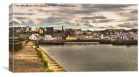 Maryport Quayside, Canvas Print