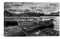 Boats at Derwentwater, Canvas Print