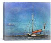 Thames Sailing Barge, Canvas Print