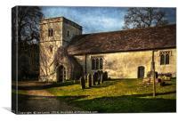 Chaddleworth St Andrews West Berkshire, Canvas Print