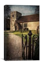 St Andrews at Chaddleworth Berkshire, Canvas Print