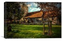 The Church At Little Wittenham, Canvas Print
