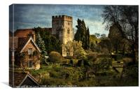 Goring on Thames Village, Canvas Print