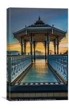 The Victorian Bandstand at Brighton, Canvas Print