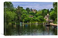 Iffley On The Thames, Canvas Print