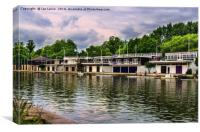 Oxford University Boathouses, Canvas Print