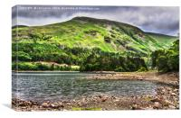 The Southern End Of Thirlmere, Canvas Print