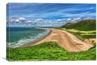 Rhossili Bay On The Gower Peninsula, Canvas Print