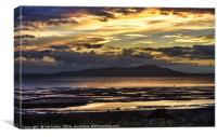Evening Light Over The Solway Firth, Canvas Print