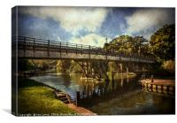 Goring on Thames Bridge, Canvas Print