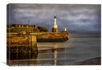 Early Morning At Maryport Harbour, Canvas Print