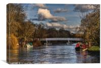 Below The Weir at Pangbourne, Canvas Print