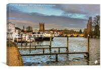 Henley on Thames Riverside, Canvas Print