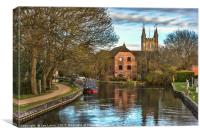 The Kennet and Avon at Newbury, Canvas Print