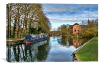 The Kennet At West Mills Newbury, Canvas Print
