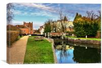 Town Lock Newbury , Canvas Print