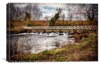 Sulhamstead Weir On The Kennet and Avon, Canvas Print