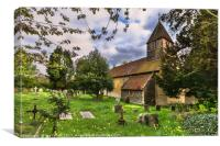 The Churchyard at St Laurence Tidmarsh, Canvas Print