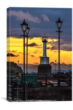 Maryport Lighthouse At Sunset, Canvas Print