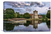 Boating At Bisham, Canvas Print